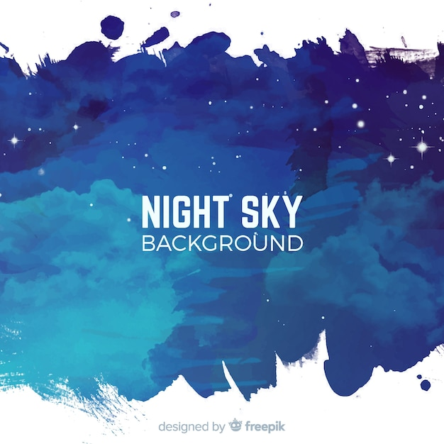 Watercolor starry night background Free Vector