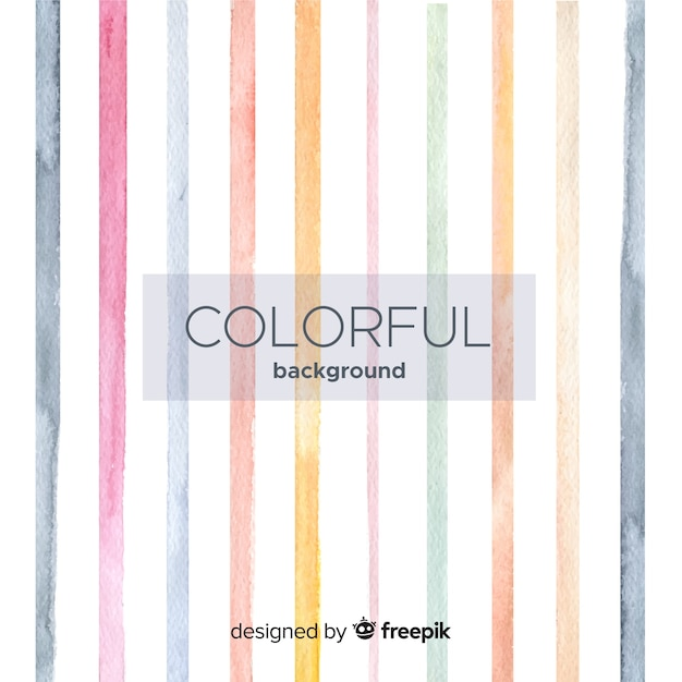 Watercolor striped background Free Vector