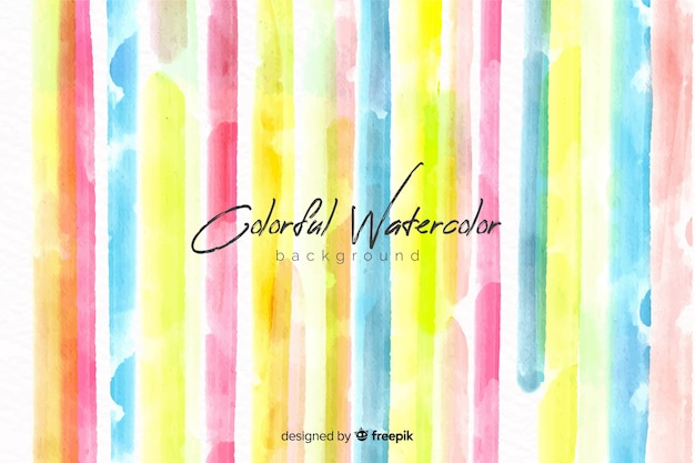 Watercolor stripes background Free Vector