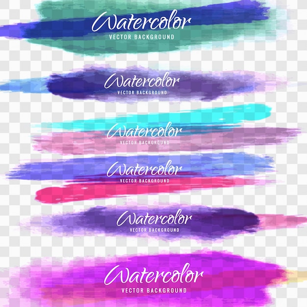 Watercolor strokes Free Vector