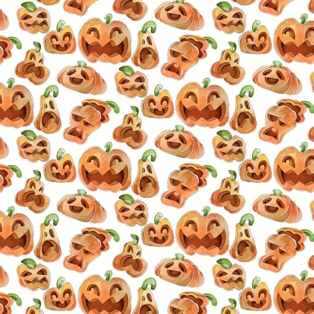 Modelli di halloween stile acquerello Vettore gratuito