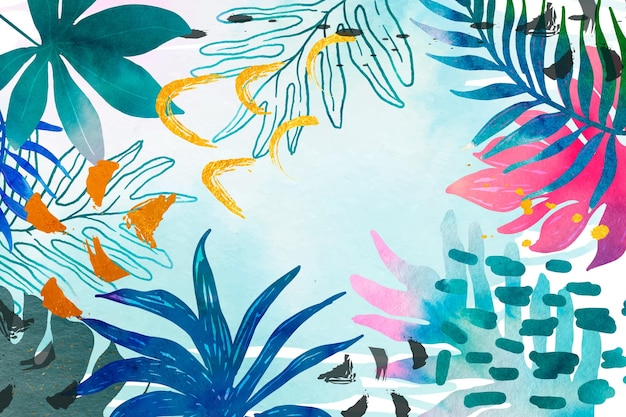 Watercolor summer background Free Vector