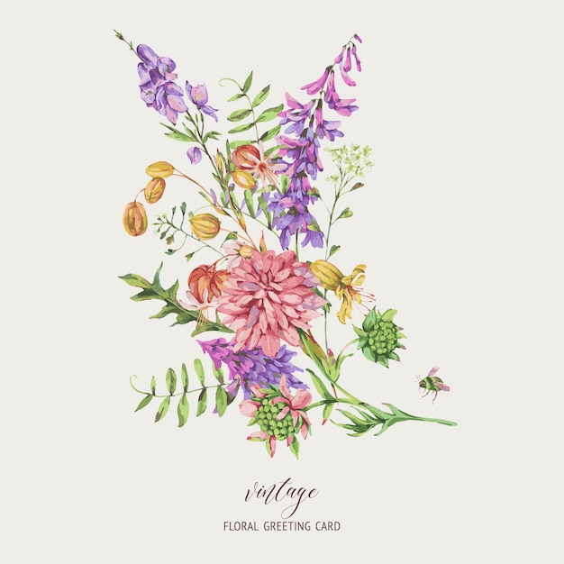 Greeting Cards Botanical Watercolors Collection