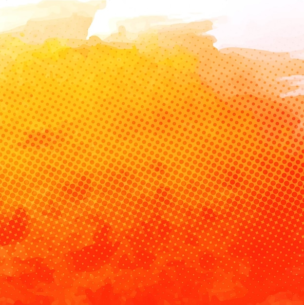 Watercolor textured background, orange Free Vector