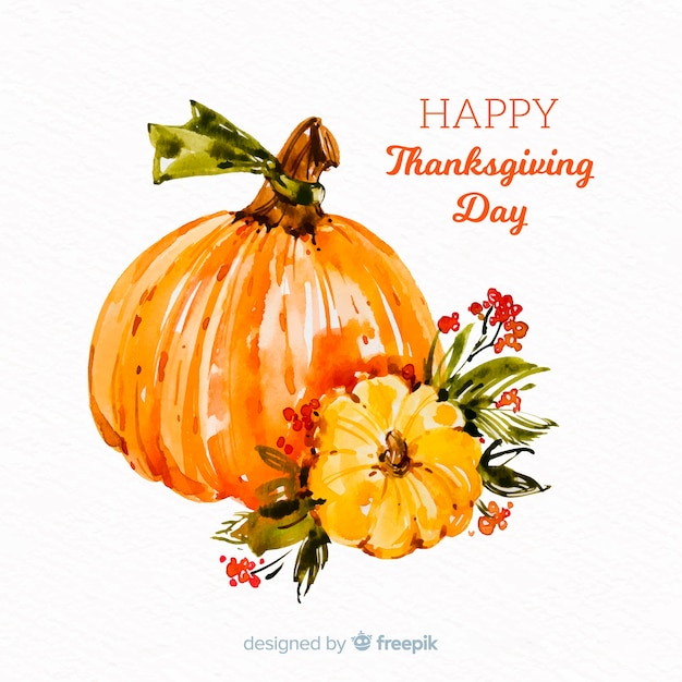 Watercolor thanksgiving background concept Free Vector
