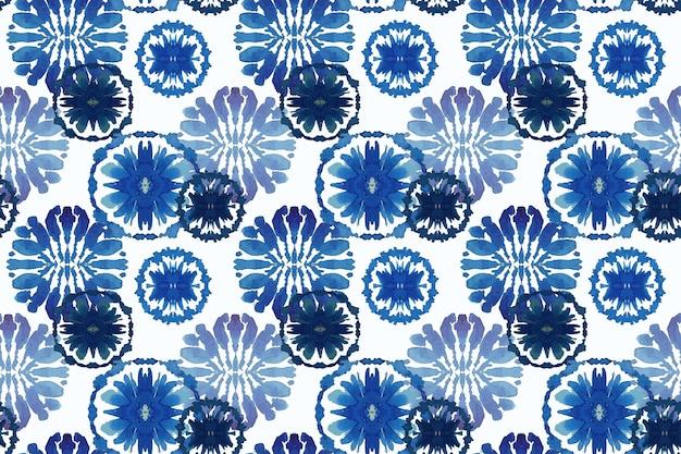 Watercolor traditional shibori pattern Free Vector
