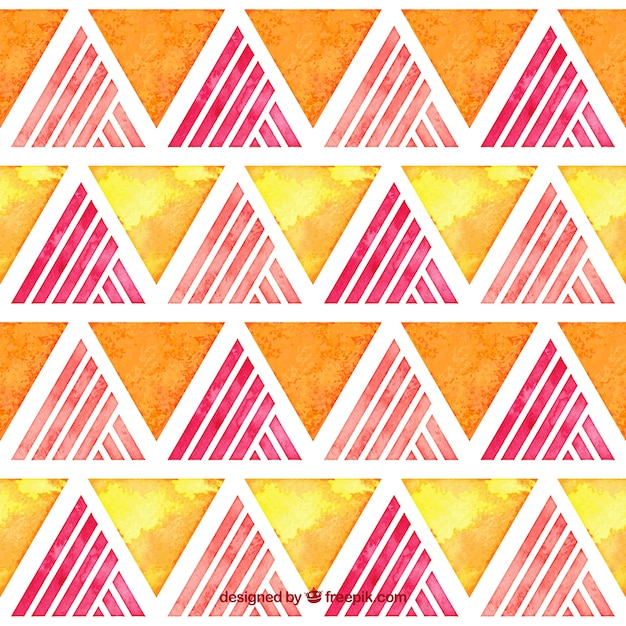 Watercolor triangles pattern Free Vector