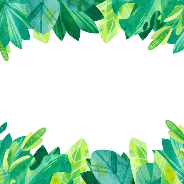 Illustrazione di vegetazione tropicale dell'acquerello Vettore gratuito