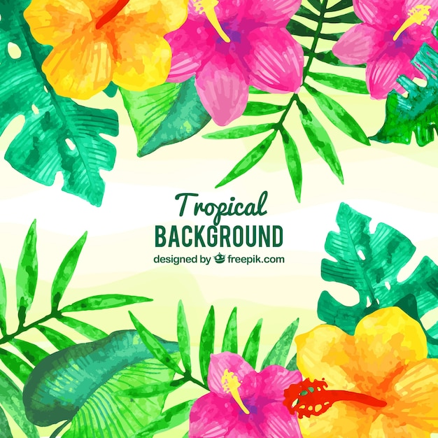 Free Vector Watercolor Tropical Leaves Background 115,000+ vectors, stock photos & psd files. watercolor tropical leaves background