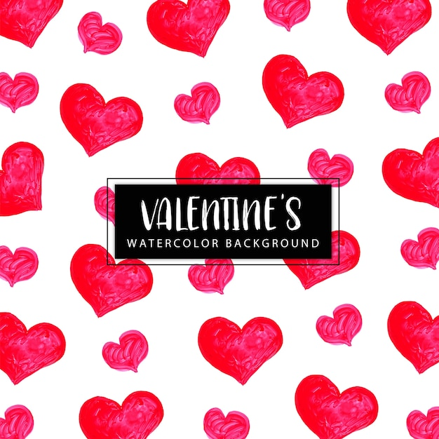 Watercolor valentine background Free Vector