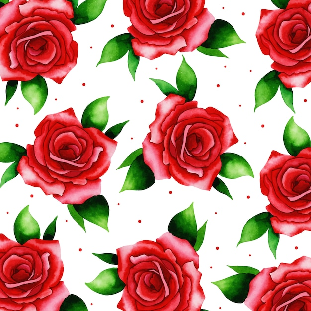 Watercolor valentine pattern background Premium Vector