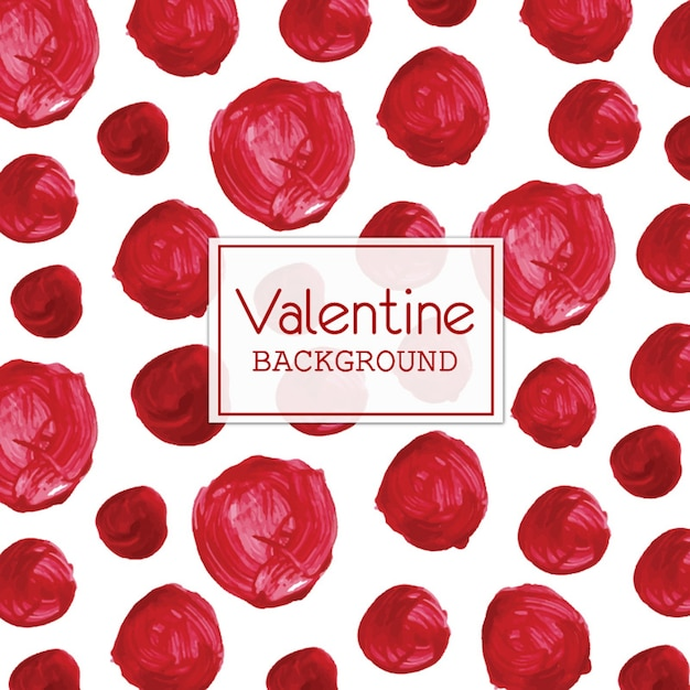 Watercolor valentine polka dot background Free Vector