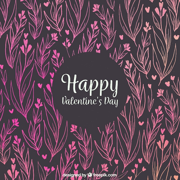 Watercolor valentine's day background Free Vector