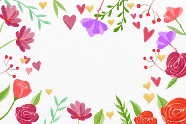 Fondo di san valentino dell'acquerello Vettore gratuito