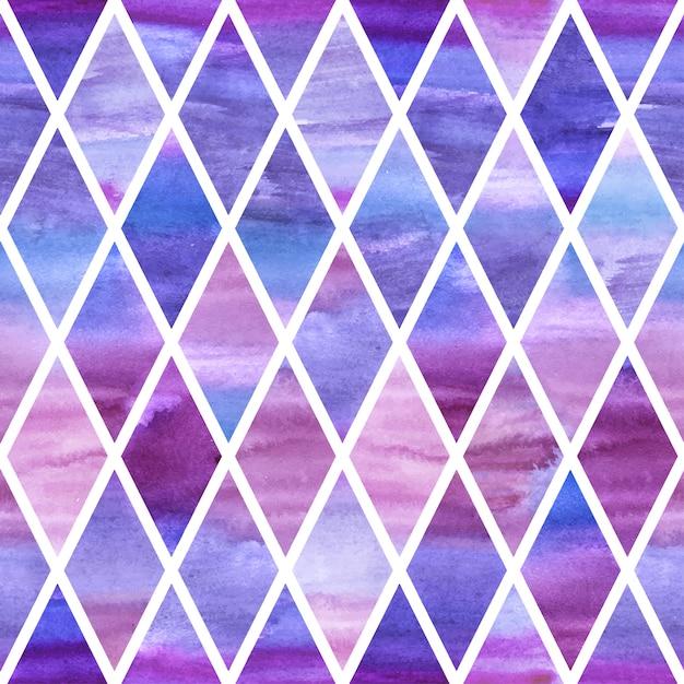 Watercolor violet rumb seamless pattern Premium Vector