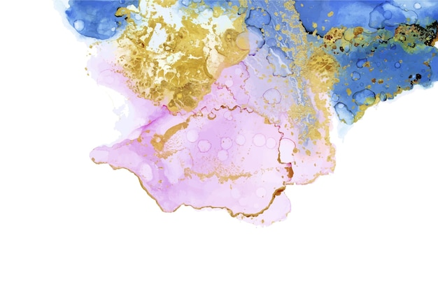 Watercolor wallpaper with golden foil Free Vector