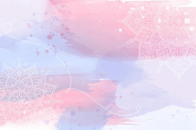 手描きの要素を持つ水彩画の壁紙 無料ベクター