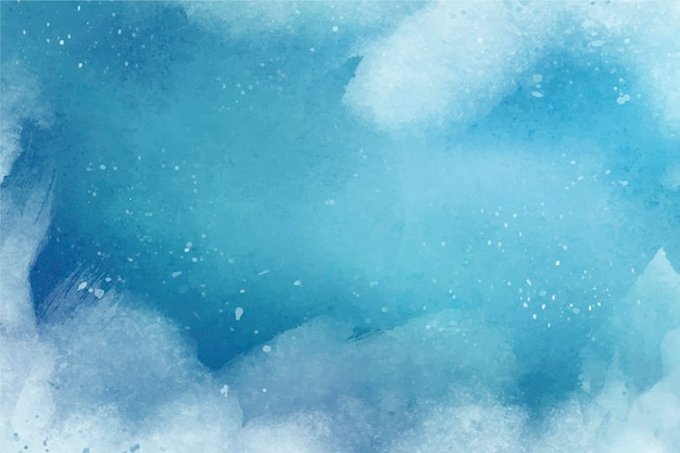 Premium Vector Watercolor Winter Background