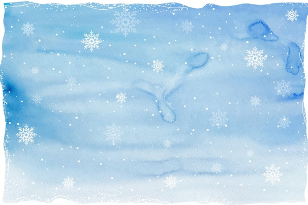 Акварельный зимний фон Бесплатные векторы