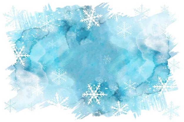 Акварельный зимний фон Premium векторы