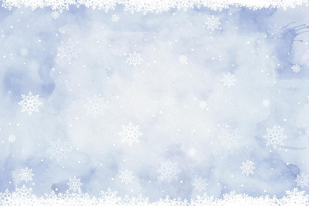 Watercolor winter background Free Vector