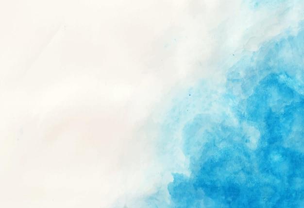 青い詳細な背景の水彩画 無料ベクター