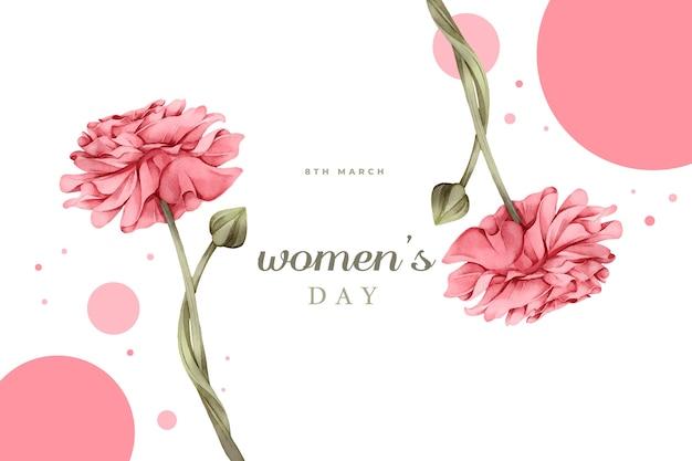수채화 여성의 날 디자인 무료 벡터