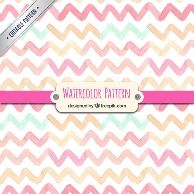 Watercolor zigzag pattern Premium Vector