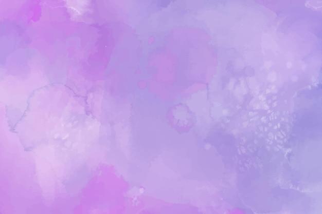 Акварельный фон с фиолетовыми пятнами Бесплатные векторы