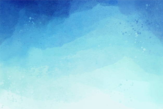 Watercolour copy space background gradient blue Free Vector