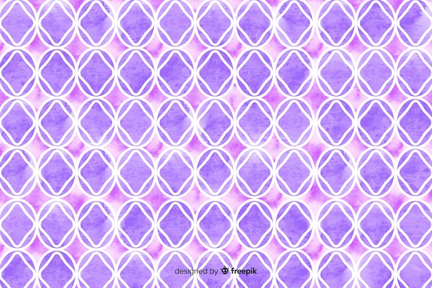 Watercolour mosaic background in violet shades Free Vector