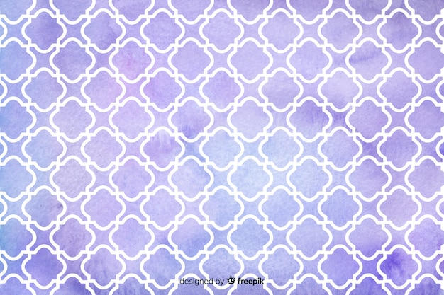 Watercolour mosaic violet tiles background Free Vector