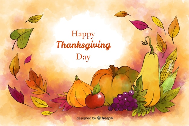 Watercolour thanksgiving background Free Vector