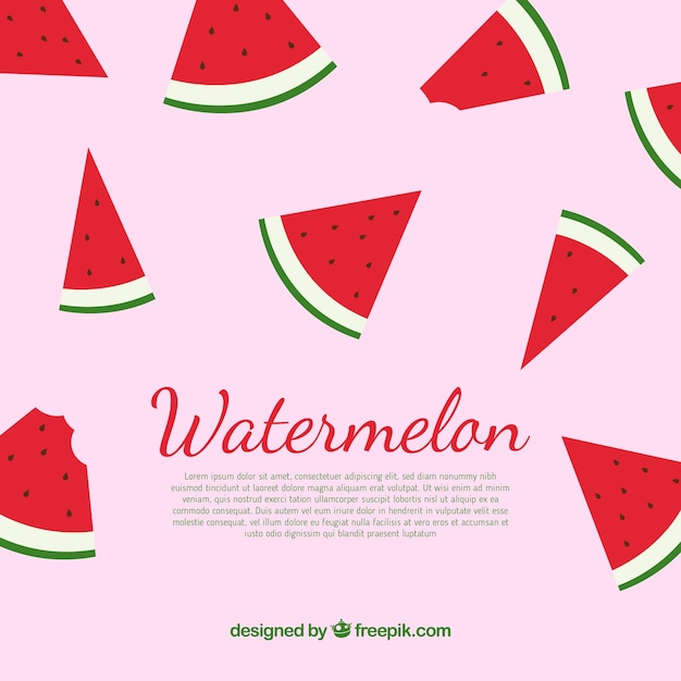 Watermelon background Free Vector