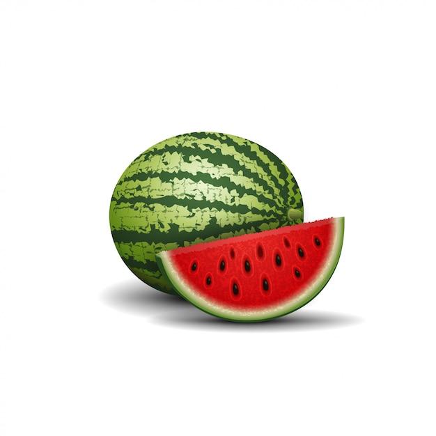 Watermelon isolated Premium Vector