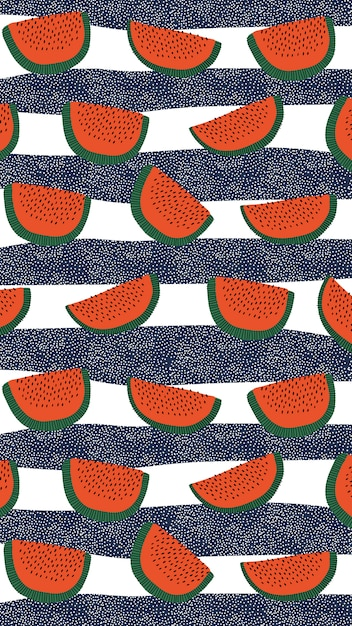 Watermelon pattern Free Vector