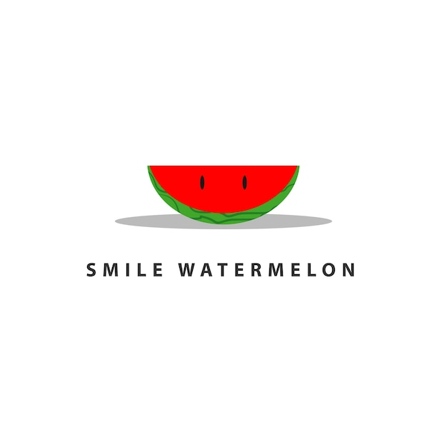 watermelon smile vector template design vector premium download