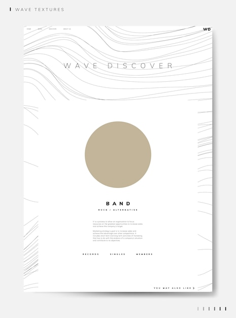 Wave discover band info vector Free Vector