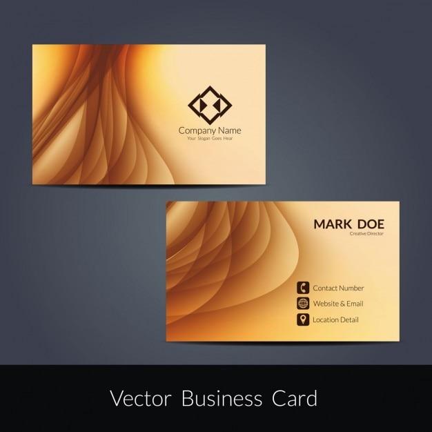 wave pattern business card design vector
