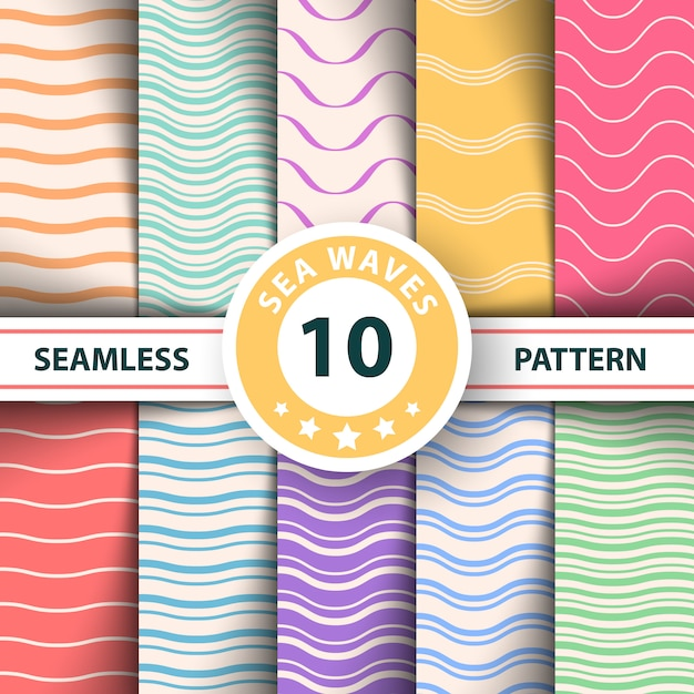 Wave seamless pattern Premium Vector