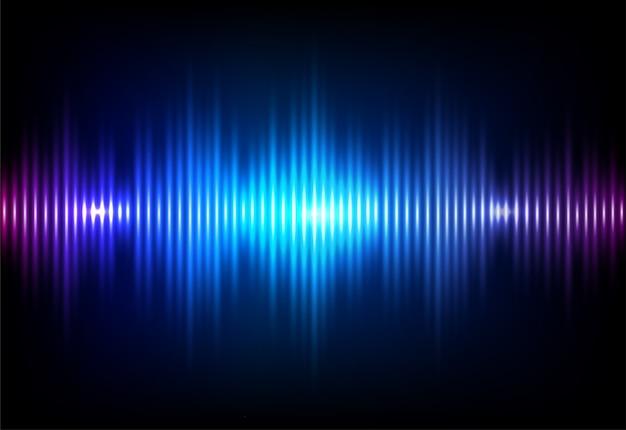 Волна звуковой неоновый фон. Бесплатные векторы