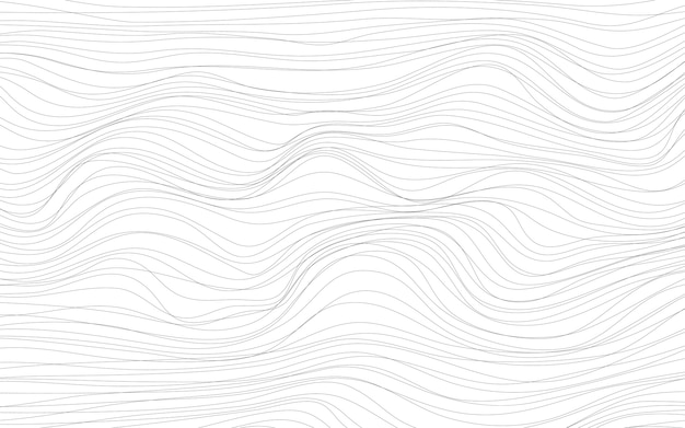 Wave textures white background vector Free Vector