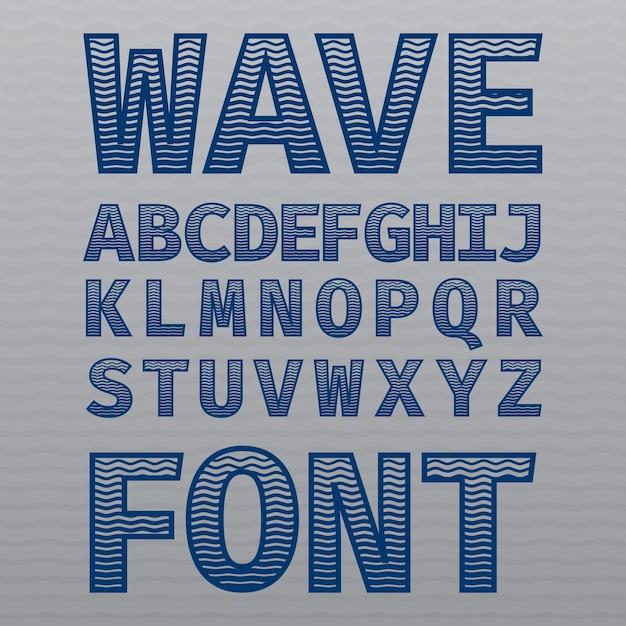 Poster di carattere vintage onda Vettore gratuito