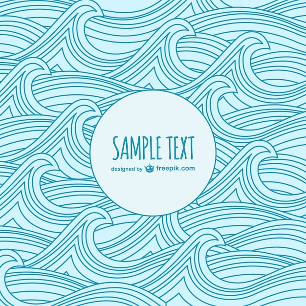 waves sketch template vector