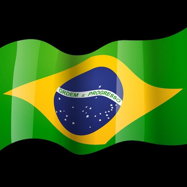 waving brazilian flag vector free download