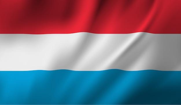ルクセンブルクの旗を振っています。ルクセンブルクの旗の抽象的な背景を振る Premiumベクター