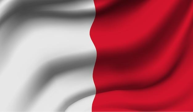 マルタの旗を振っています。 Premiumベクター