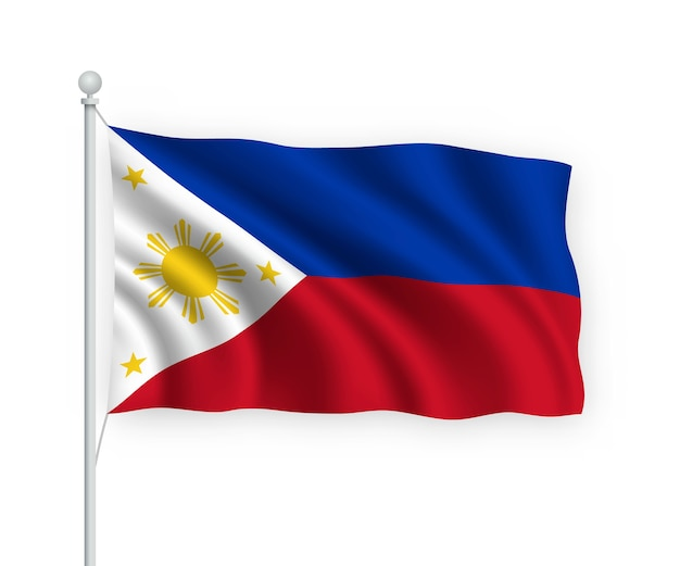 Premium Vector Waving Flag Philippines On Flagpole Isolated On White The philippines flag vector files can also be reduced with a sharp result. https www freepik com profile preagreement getstarted 10429630