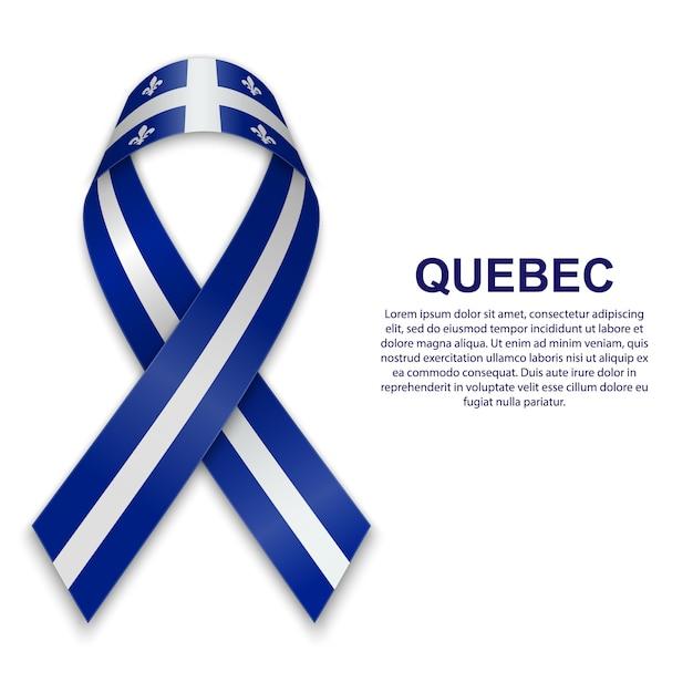 Premium Vector Waving Flag Of Quebec