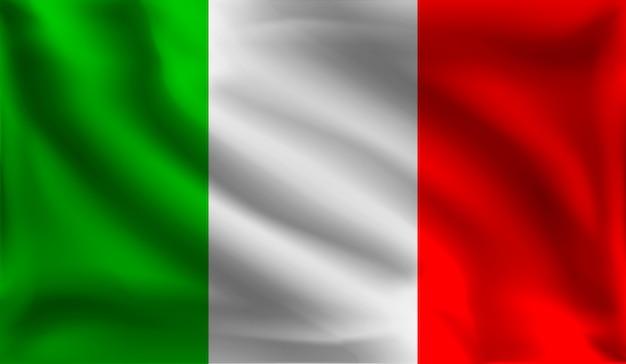 イタリアの旗、イタリアの旗を振って、 Premiumベクター
